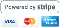 Pay with any major credit card